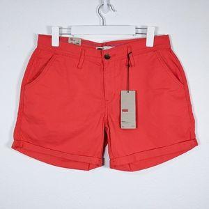 Levi's Cuffed Shorts Hot Pink Size 29